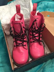 Pink children's Golddigga boots size 2