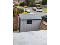 Composite grey shed
