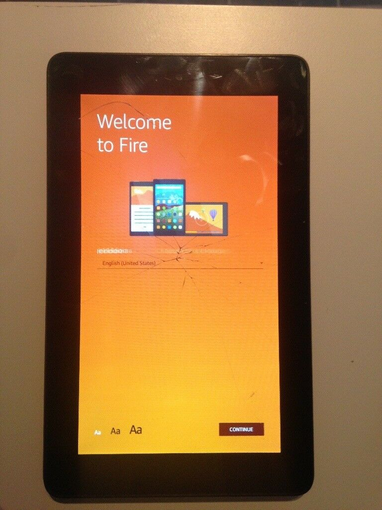 Amazon Fire Tablet *Cracked Screen