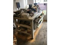 SHOP COUNTER LINK SHELVING UNIT KITCHEN ISLAND PINE WHITE FARMHOUSE COUNTRY STYLE