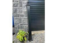Pair of Lightweight Aluminium Pillars in Black