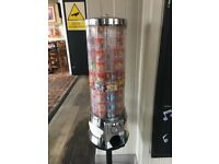 Coin operated candy sweet treat machine vending non electric gum ball