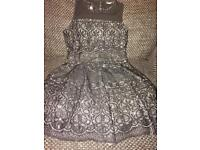 Gorgeous girls Black/silver Party dress age 6 worn once excellent condition