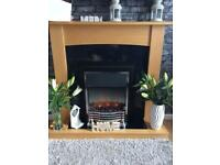 Flame effect fire with surround