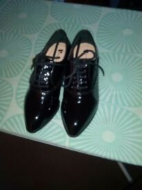 Ladies Black Patent Leather Shoes
