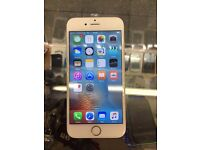 I Phone 6 16GB unlocked Network Good Condition White Silver color