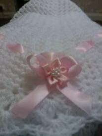 Hand made crocheted baby shawl