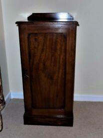 Antique~Victorian Mahogany Bedside Cabinet