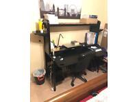 Ikea Desk - Workstation - Black