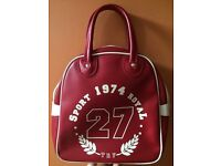 Vintage looking bowling ball type bag