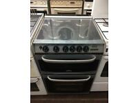 Black & silver cannon 55cm gas cooker grill & double ovens good condition with guarantee