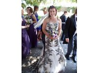 Maggie Sottero Rose Gold and Black Palartzo Gown Size 10 Wedding Dress
