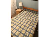 Double bed used. (With or without Matress)