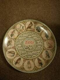Wedgewood collector plates of british birds