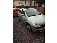 Vauxhall corsa comfort spares or repair