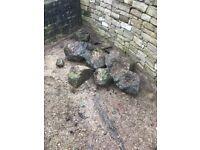 Garden rock stone