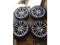 BMW 3 series polished alloy wheels