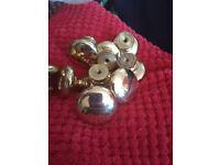 Brass kitchen cabinet door knobs