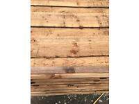 🎄New Brown Wayneylap Fence Panels > Excellent Quality < Pressure Treated > Heavy Duty