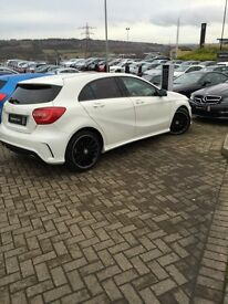 A Class, Mercedes benz, Automatic, Night pack, diesel, white, A180, low mileage, sport, AMG, 63 reg