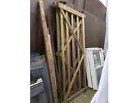 Wood Driveway Gates (£80.00 for the pair)