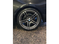 BMW 330D coupe Msport auto black red leather 2011