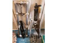 Husqvarna 610 forks swing arm shock