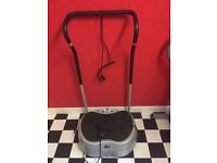 Body Sculpture power vibration machine. Tension straps. Electronic. 8 months old. Hardly used £50