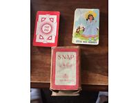 CHAD VALLEY HARBORNE SNAP VINTAGE PLAYING CARDS GAME 1930s 40 CARDS + BOX