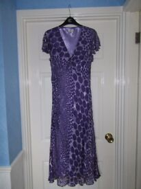 CC Ladies Silk Mix Dress with Beading size 12 / 14