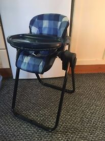 Kids Play High Chair/ Swing Chair and Carrycot - Good Condition