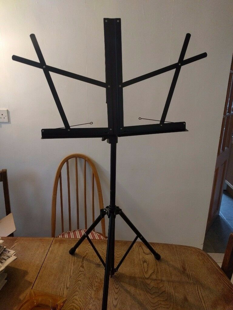 Adjustable metal music stand, £5