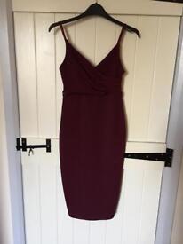 Size 8 burgundy pencil dress