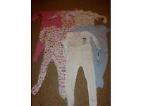 Baby girl sleepsuits 12-18 months