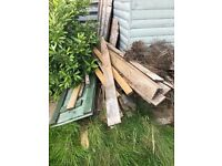 Scrap wood and wood from summer house