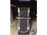Motorised pro fitness folding treadmill