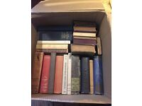 Box of 28 books - old hardbacks all in really good condition perfect for wedding props