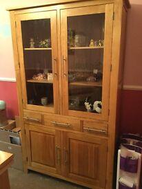 Oak furniture Display Cabinet