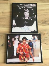 Scarface Al Pacino signed framed photos
