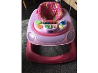 Pink chicco baby walker
