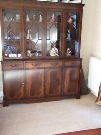 Mahogany 4 door display unit by Rosjohn/Strongbow furniture.