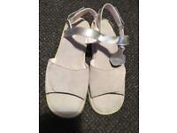 Suede silver Kicker sandals