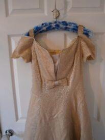 Gold brocade stunning wedding dress