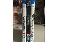 3 blu ray Transformers movies.