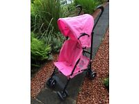 Tippitoes Pink stroller - perfect holiday stroller