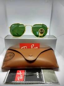Ray-Ban hexagonal sunglasses green
