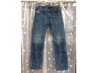 Men's Diesel WAYKEE blue regular/straight fit jeans, size 34L