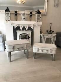 Upcycled suitcase shabby chic tables £40 each