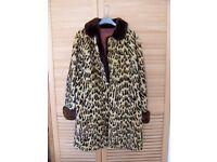 Fur coat ocelot beaver 3/4