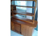 Wooden display stand, professionally made with shelves & cupboard